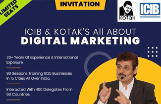 Indian Chamber of International Business Helping MSME companies reach out to the world Invited to educate their members to use Digital Marketing for international visiblity