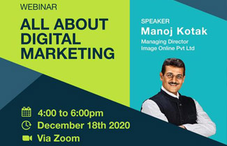 "INVITED by Mumbai Mudrak Sangh for webinar on ""DIGITAL MARKETING"